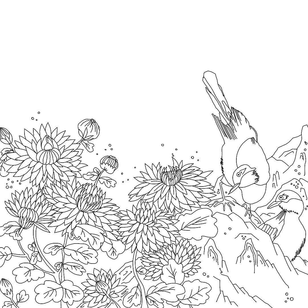 화조화 Koreanpainting Illustration Drawing Flowers