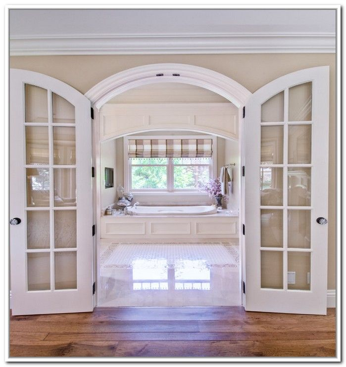 Furniture old fashionated arched french doors interior for Interior glass french doors