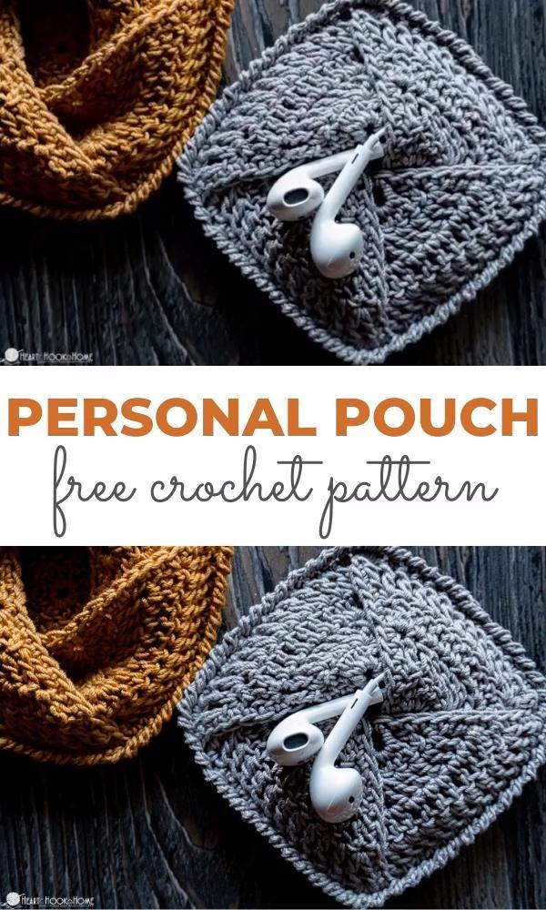 Pochette personnelle: modèle de pochette au crochet gratuit    – Nähen