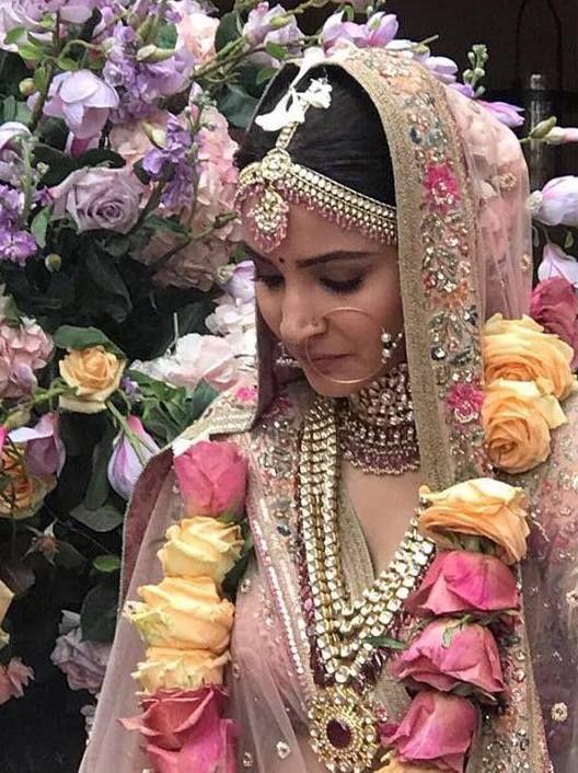 Virat Kohli Anushka Sharma Wedding Indian Bridal Fashion Bollywood Wedding Indian Bridal Makeup