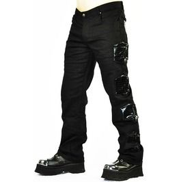 Cryoflesh Apocalypse Post Apocalyptic Cyber Goth Industrial Tactical Pants is part of Emo Clothes Pants - Burning man, apocalypse clothing, tattered clothing,