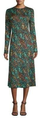 235f9cc231 M Missoni Abito Leopard-Print Lurex Midi Dress