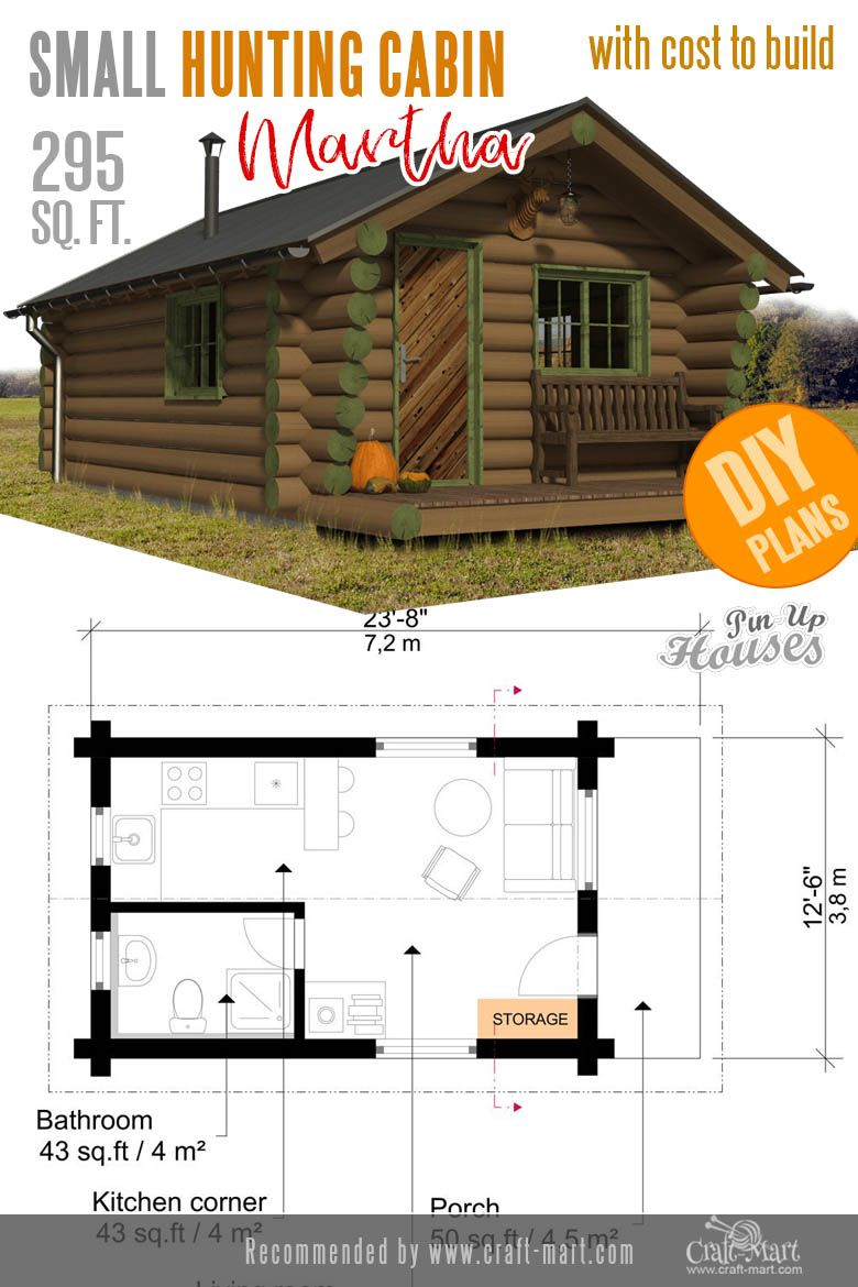 Awesome Small And Tiny Home Plans For Low Diy Budget Craft Mart Cabin Plans Tiny House Plans Hunting Cabin