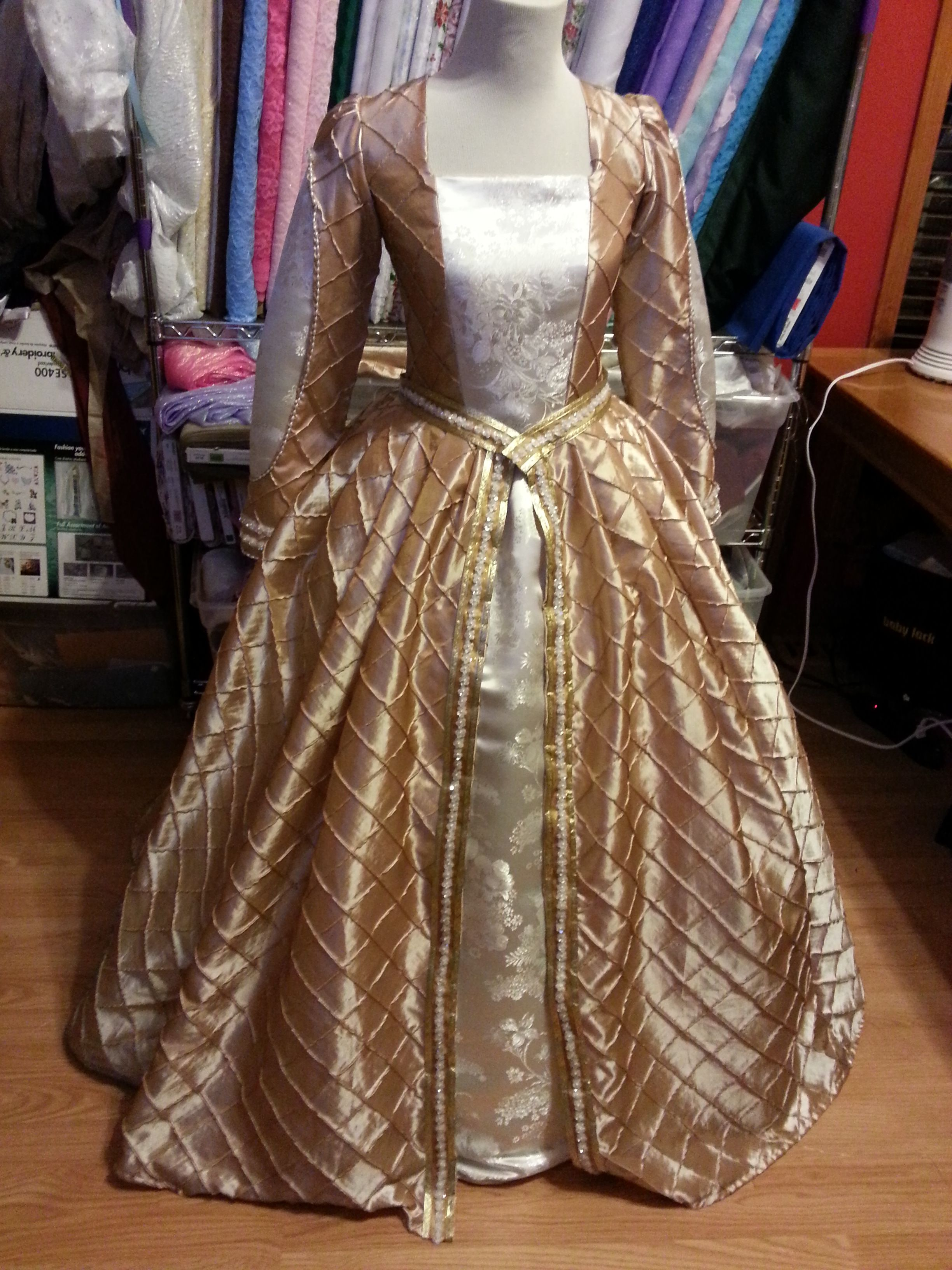 Gold and Silver Renaissance Teen Dress   Renaissance Dresses I have ...
