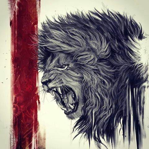 d299566f5deee Lion trash polka | Tattoos | Lion tattoo, Lion hand tattoo, Lion art