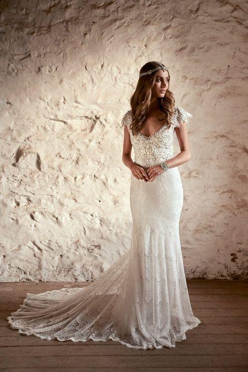 Anna Campbell Bridal | Ruby Dress | Vintage-inspired embellished ...