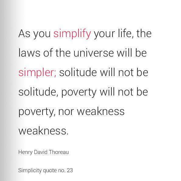 henry david thoreau simplicity