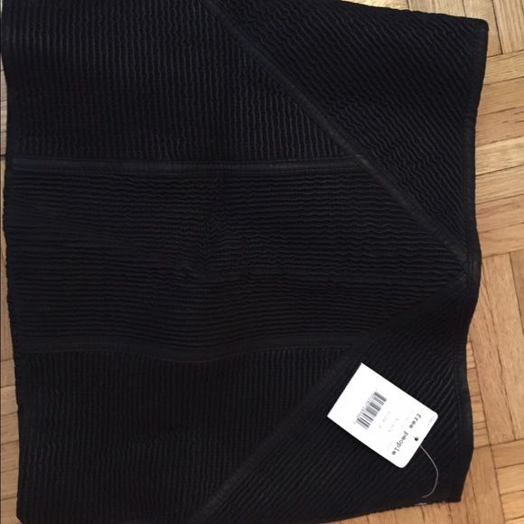 Free People pin tuck vegan leather bodycon skirt Free people pintuck vegan leather bodycon mini skirt. New with tags. Size 8. Beautiful. Free People Skirts Mini