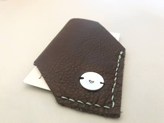 Leather Card Holder Personalised Business