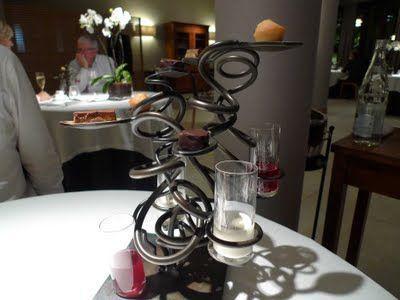 Restaurante Martin Berasategui Escultura de bombones y dulces líquidos