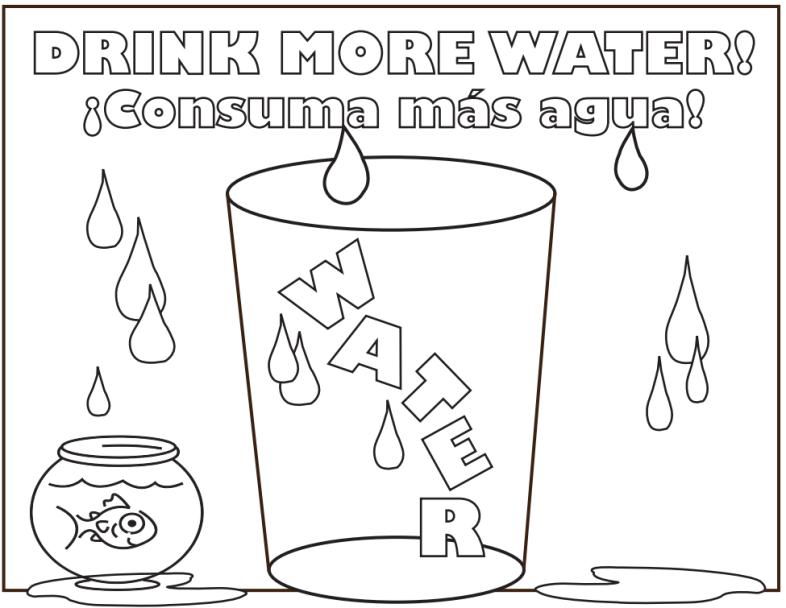 this #drinkmorewater coloring page is a creative way to