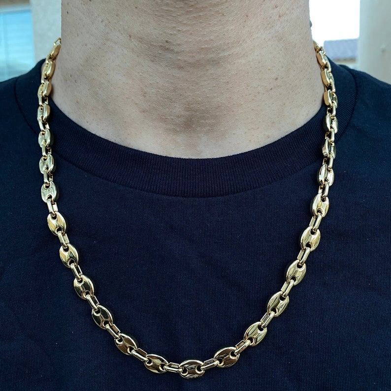 10mm Gucci Style Link Chain Necklace Stainless Steel Etsy In 2021 Chain Link Necklace Stainless Steel Chain Necklace Mens Chain Necklace