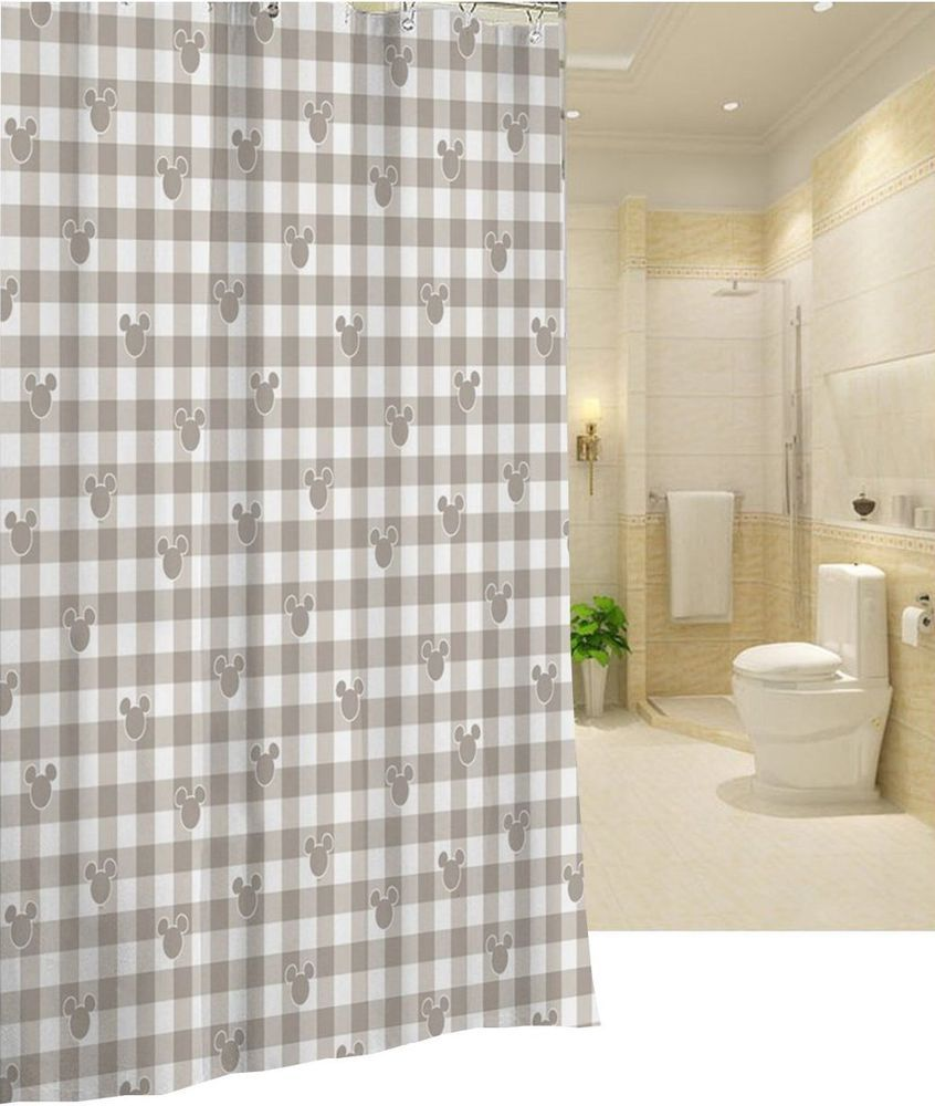 Disney Mickey Mouse US Design Shower Curtain 18 New Free Shipping
