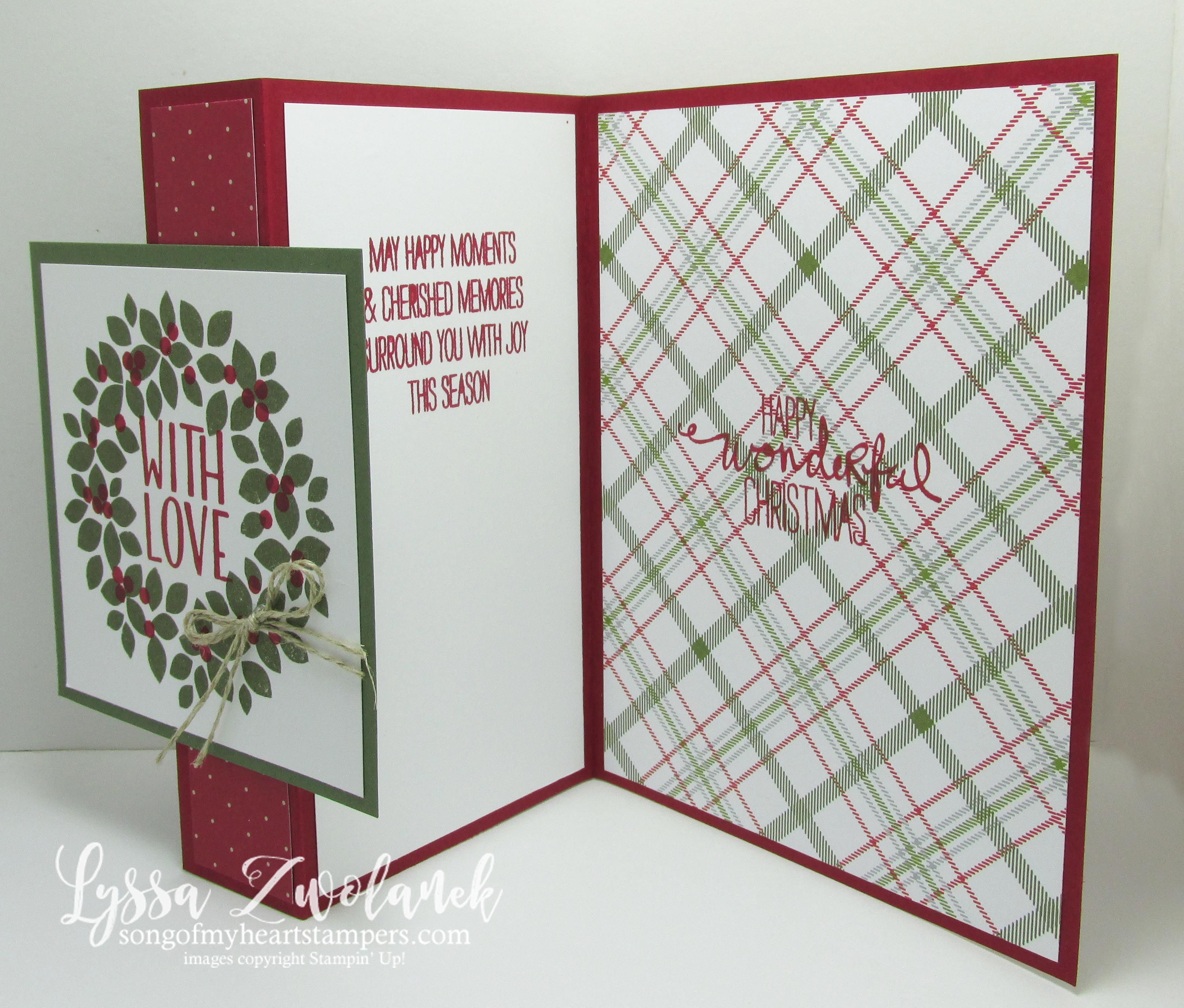 Easy Fold Back Front Christmas Card