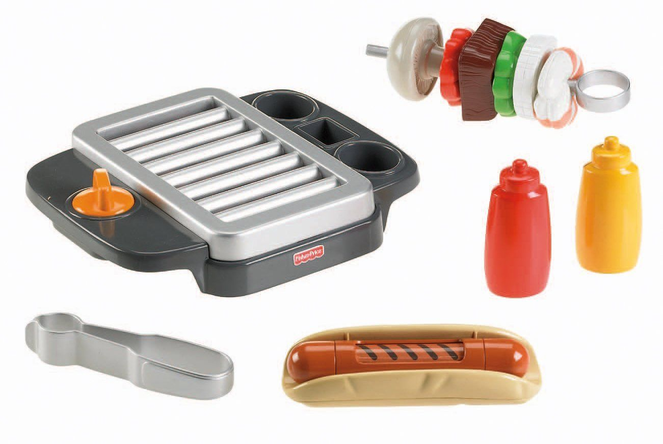 Amazon.com: Fisher-Price Servin\' Surprises Barbeque Grill Play Food ...