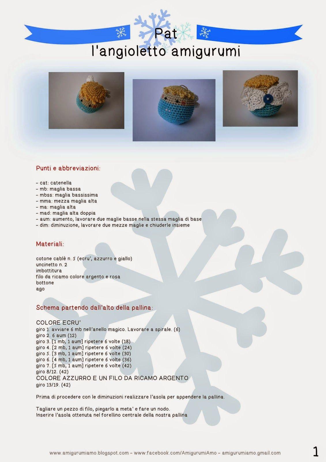 Angioletto similThun - free amigurumi scheme in Italian ... | 1600x1131
