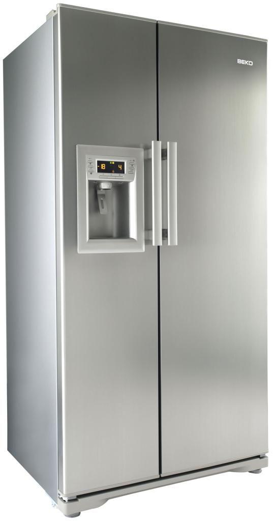 Beko - Beko GNEV321APX American Style Fridge Freezer Silver GRADED ...
