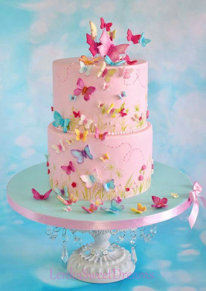 Astonishing Pin By Everythingpins On Cakes Butterfly Birthday Cakes Funny Birthday Cards Online Overcheapnameinfo