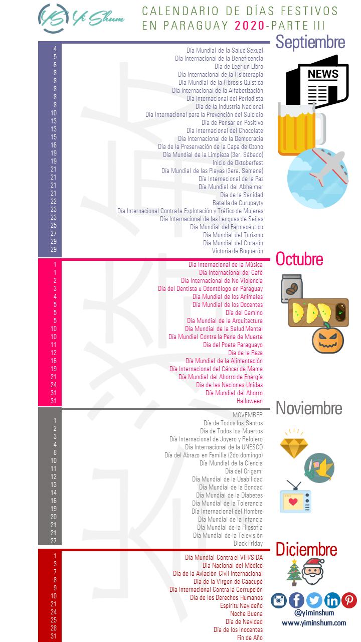 Calendario De Días Festivos En Paraguay 2020 Yi Min Shum Xie Instagram Map Remax