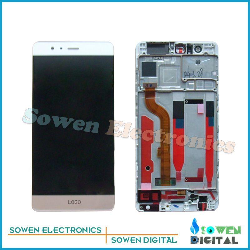 Für huawei p9 eva-l09 eva-l19 eva-al00 lcd display mit touchscreen digitizer mit rahmen lünette assembly vollständige sets, werkzeuge