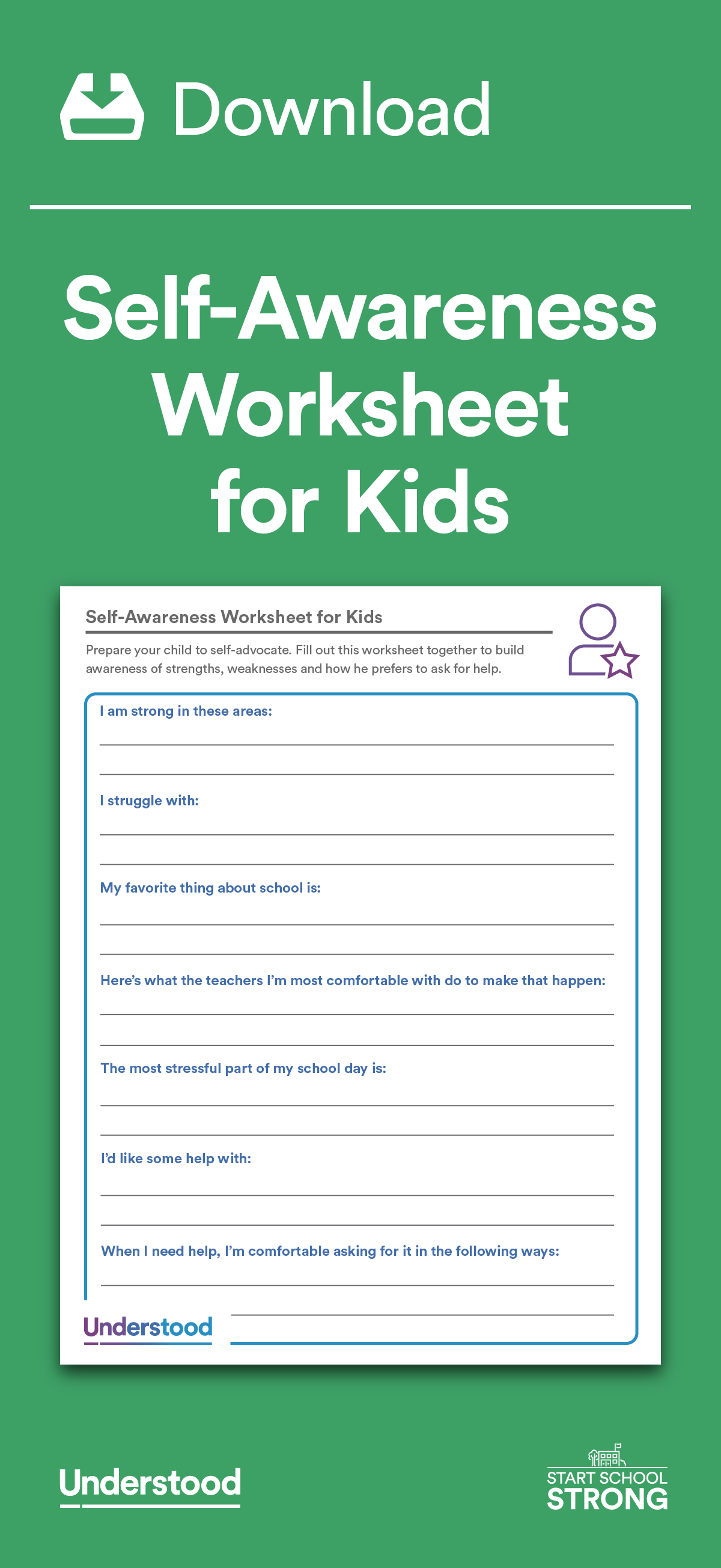 Download: Self-Awareness Worksheets for Kids | T H E R A P Y | Self ...