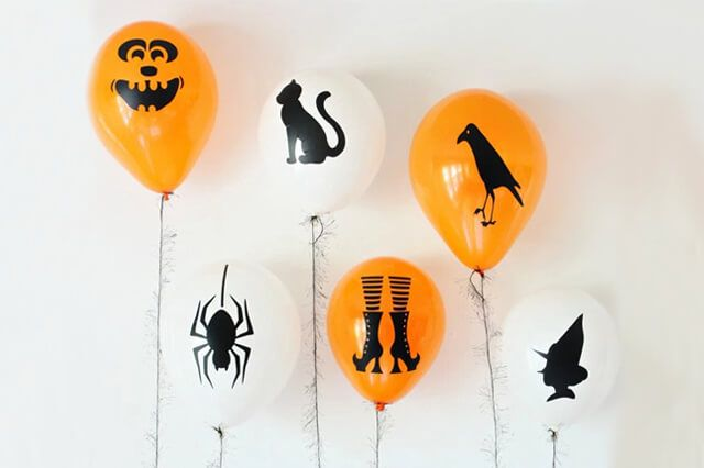 Cómo decorar en Halloween con globos #ideas #decoración #fiestas #halloween #globos