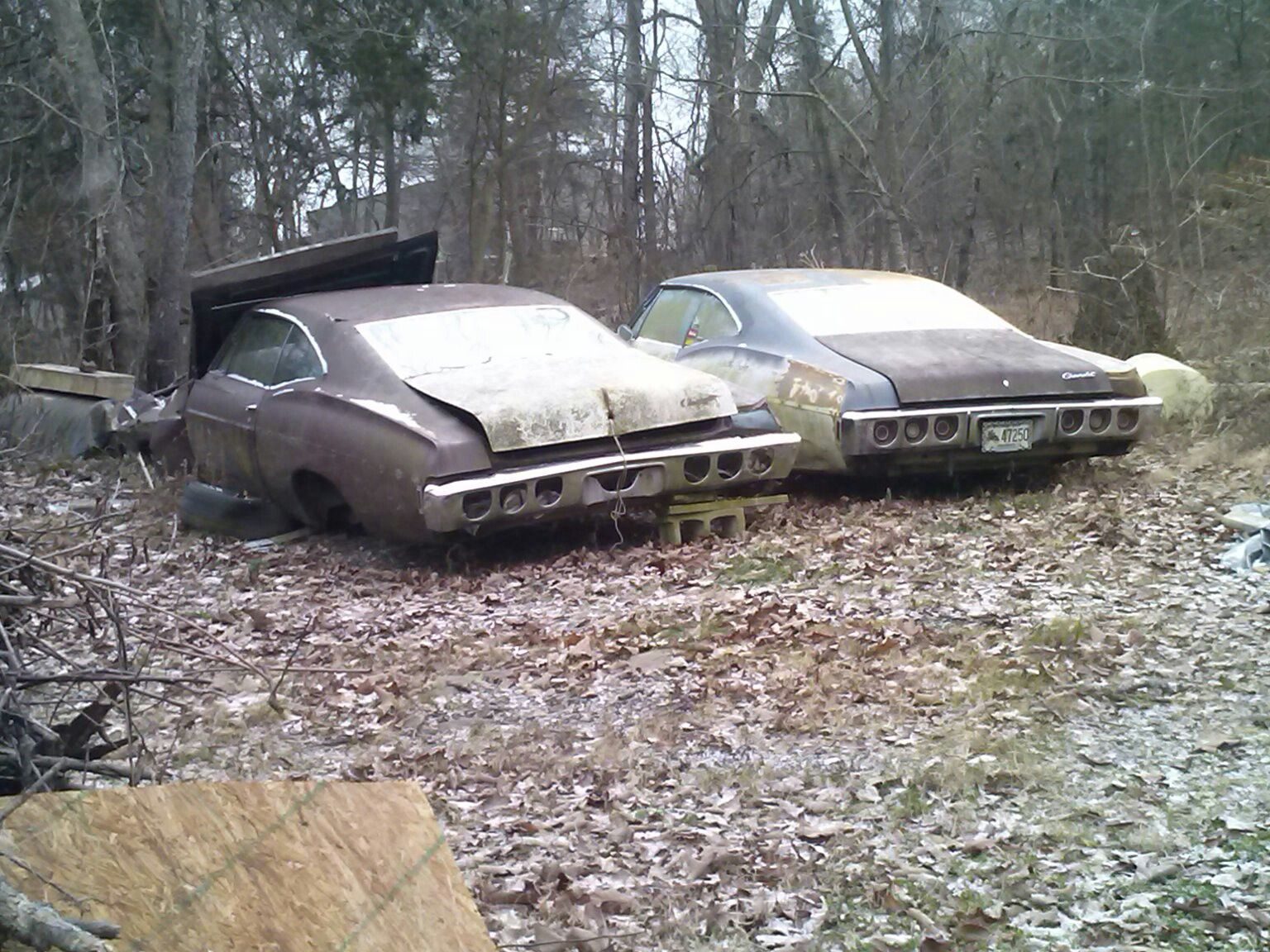 Two 67 chevy impalas found somewhere in arkansas tripper s travels http