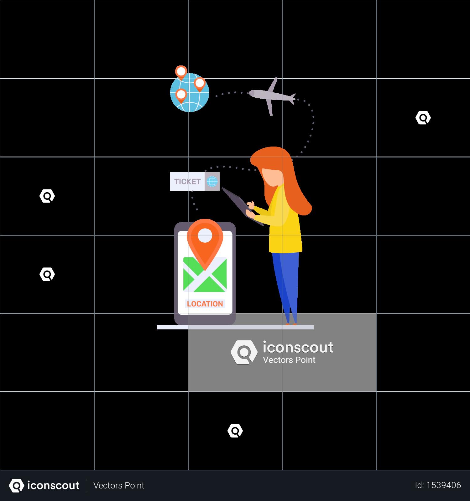 Premium Online Reservation Illustration download in PNG
