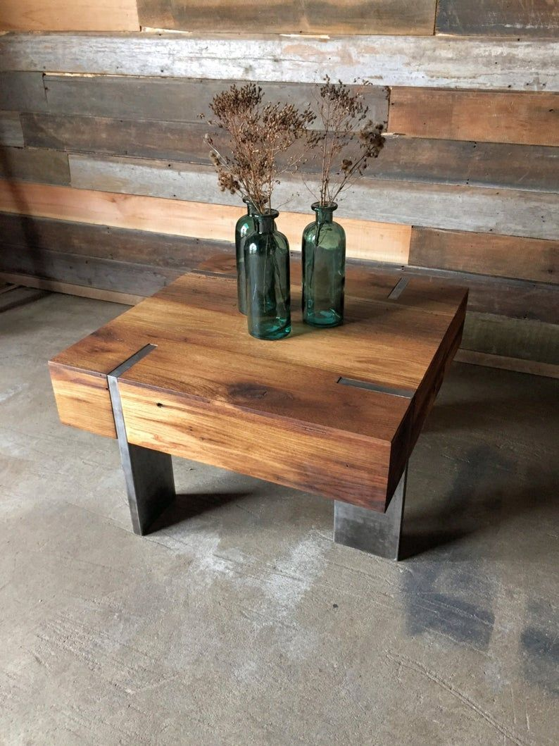 Small Modern Reclaimed Wood Coffee Table Etsy Reclaimed Wood Coffee Table Coffee Table Wood Coffee Table [ 1059 x 794 Pixel ]