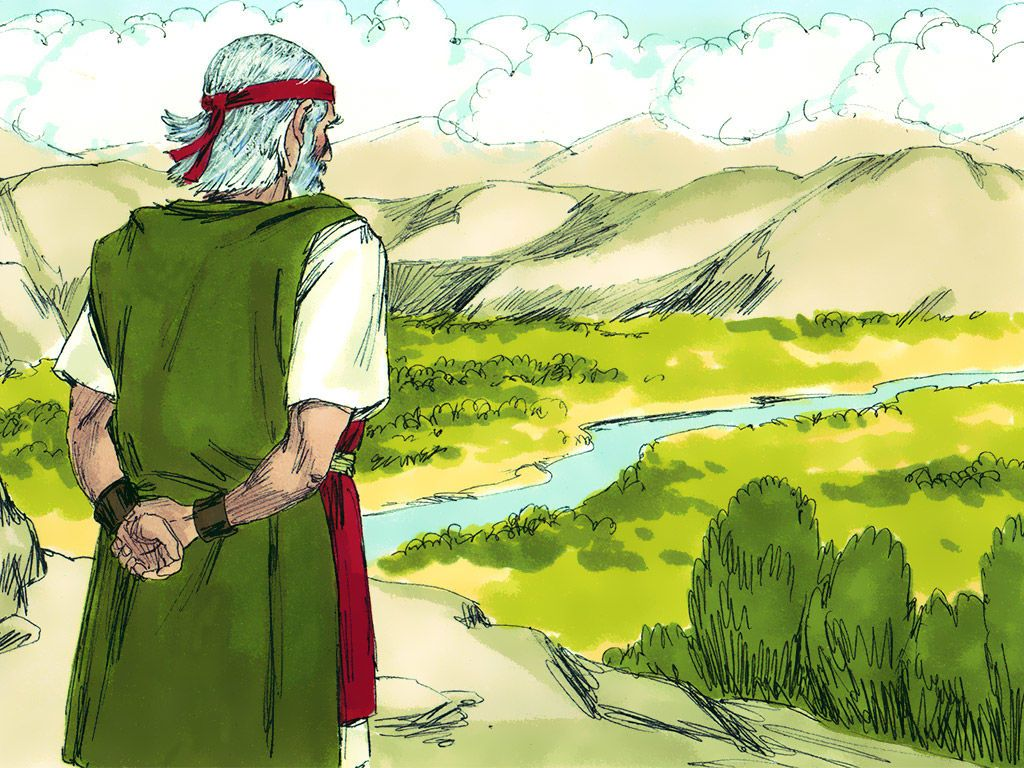 The Lord explained, 'This is the land I promised Abraham