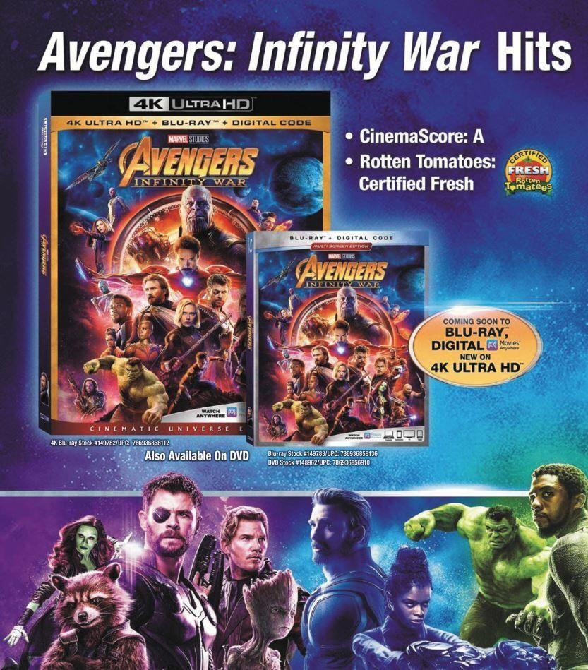 Infinity War Blu Ray Packaging Infinity War Avengers Marvel Movies
