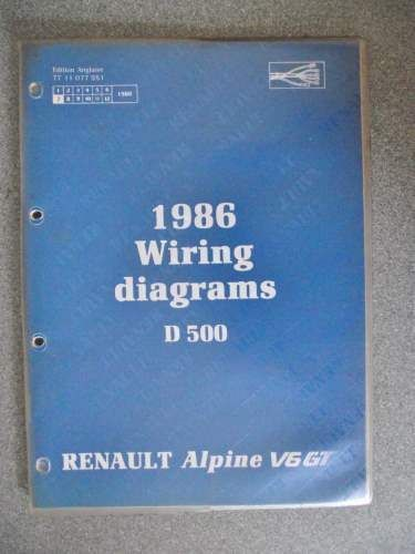 Renault alpine v6 gt d500 wiring diagrams manual 1986 7711077951 renault alpine v6 gt d500 wiring diagrams manual 1986 7711077951 nt8010 sciox Image collections