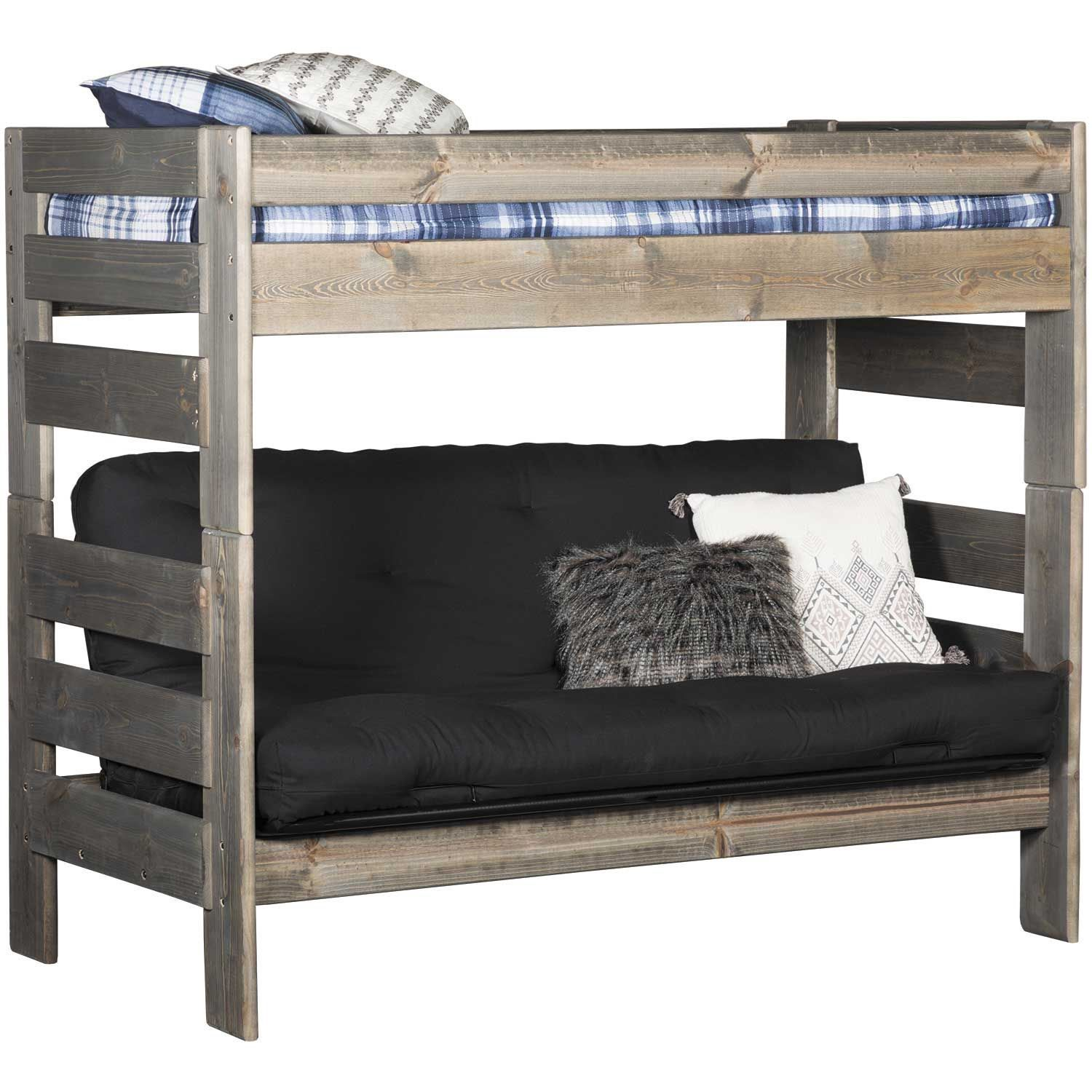 Cheyenne Driftwood Twin Over Twin Futon Bunk Bed In 2021 Futon Bunk Bed Kids Bunk Beds Bunk Beds Full over full futon bunk bed