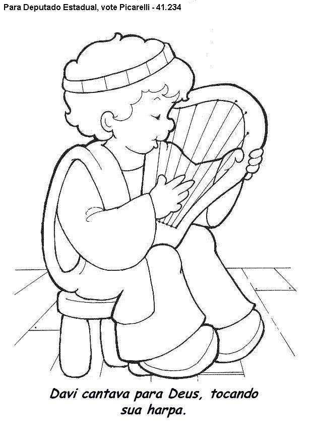 davi tocando harpa desenhos biblicos in 2018 pinterest sunday