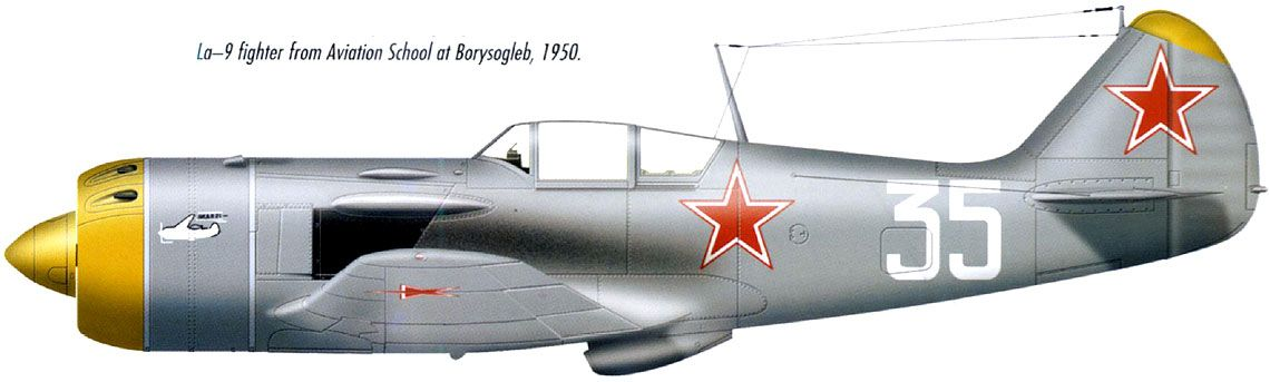 Lavochkin La-9 fighter from Aviation School at Borysogleb, 1950.