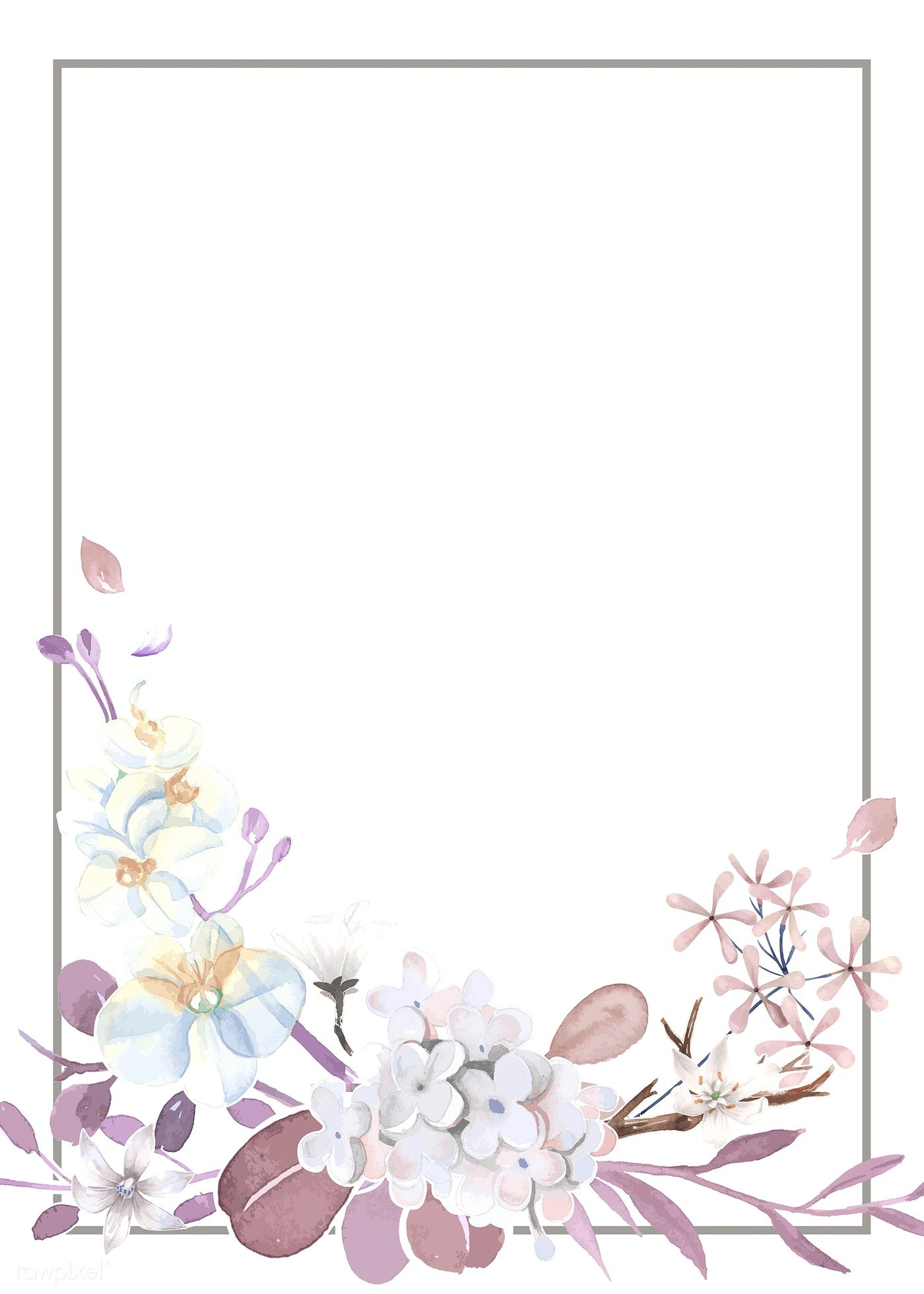 Download premium vector of Purple and pink greeting card