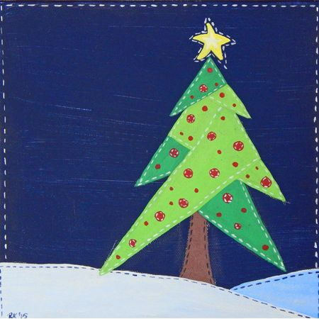 """Stitching a Christmas Tree"" by Rachel Kallenbach"