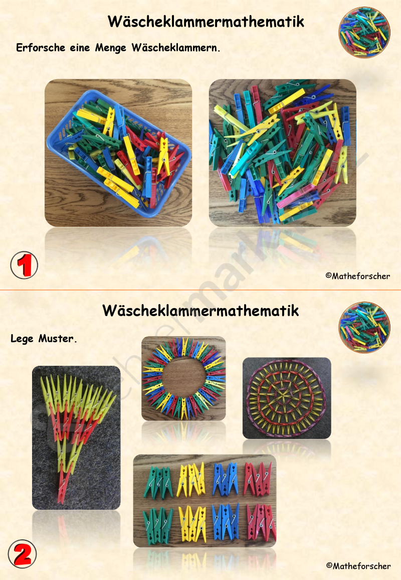 Wäscheklammermathematik in der Kita – Unterrichtsmaterial in den Fächern Kita & Mathematik #kitaräume