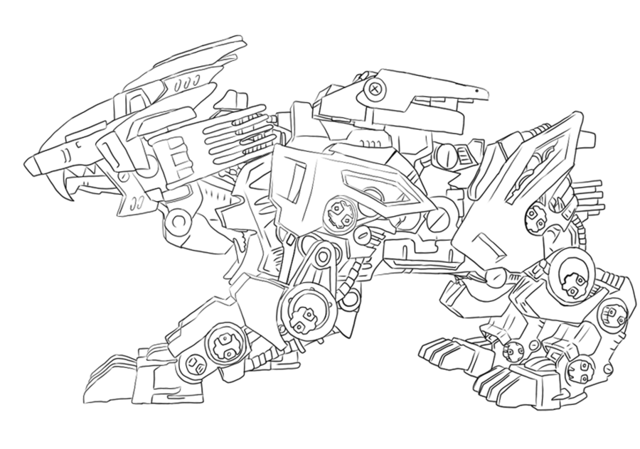 Liger coloring pages ~ Liger Zero Lineart by ImikoNeigeux   Sketches, Drawings, Art