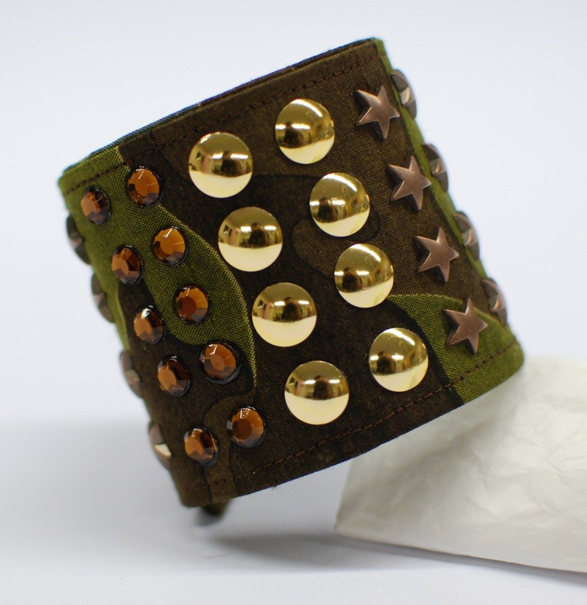 #rock #bracelet with #studs and #stars
