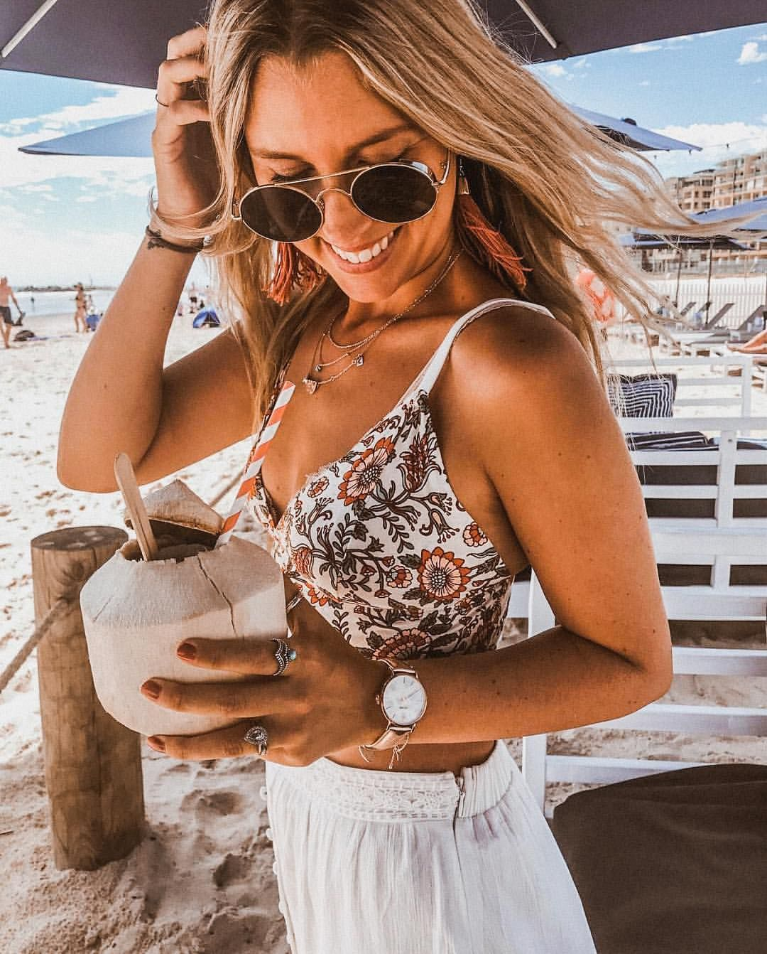 "cd7be0466540 ARNHEM ( arnhem clothing) on Instagram  ""Coconut O clock with beach babe   koleha in the  Primrose  crop in ivory    Melody  skirt in white…"""