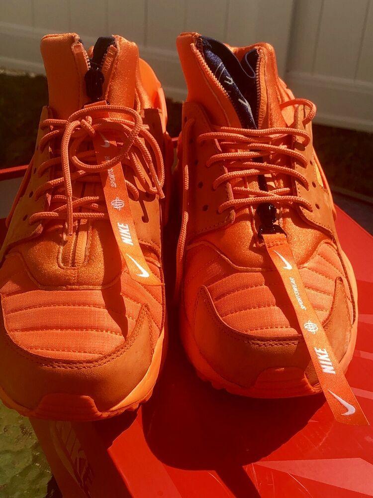 reputable site 5976e fc836 Men Shoes Nike Air Huarache Run QS Chicago Orange Size 8.5 AJ5578 800 Rare    eBay
