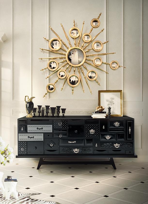Mondrian Black Sideboard Exclusive Furniture | Decorate my decor ...