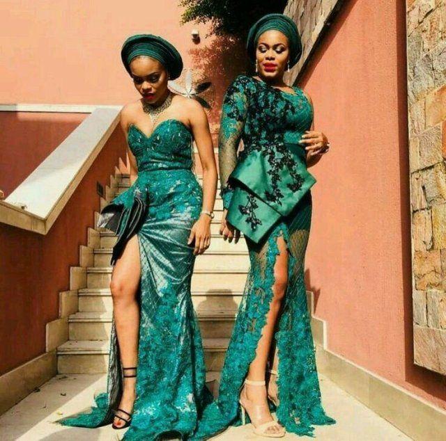 Stunningly And Creative Aso Ebi Styles For Owanmbe Party #nigeriandressstyles