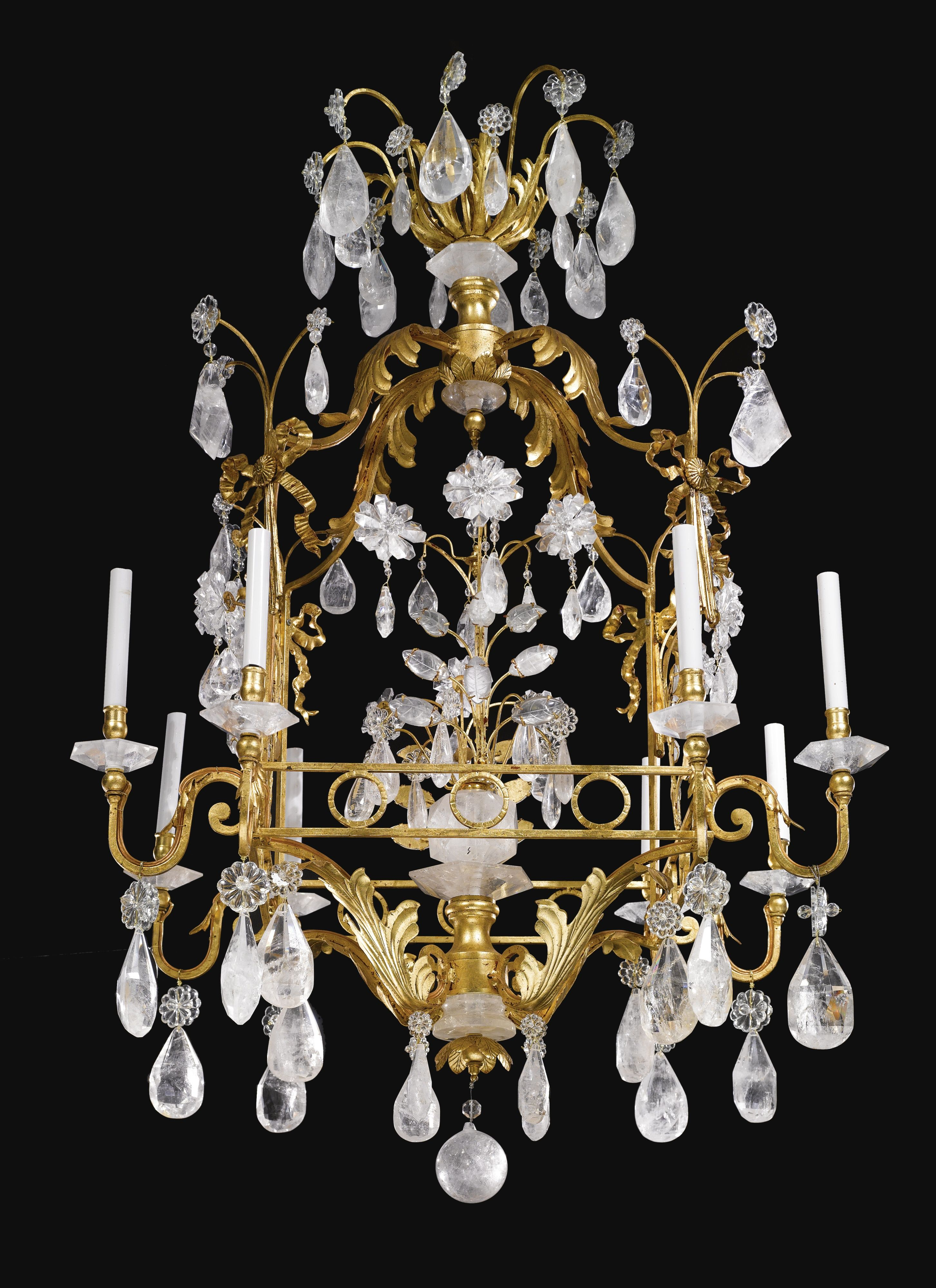 early iron century gilt lovely a bronze and chandelier louis french rock crystal xv photo andromedo