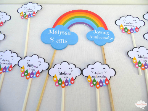 emmaginaire: l'arc en ciel fait sa fête   anniversaire   pinterest