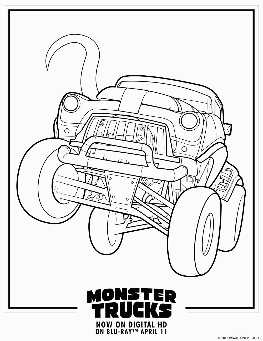 Coloring Page For Kids Coloring Book Monster Truck Pages Photo