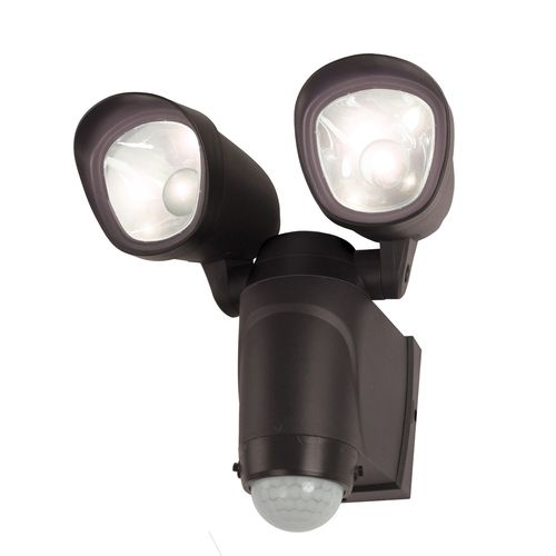 Flood Light Security Camera Entrancing Utilitech 110Degree 2Head Led Motionactivated Floodlight Item Design Ideas