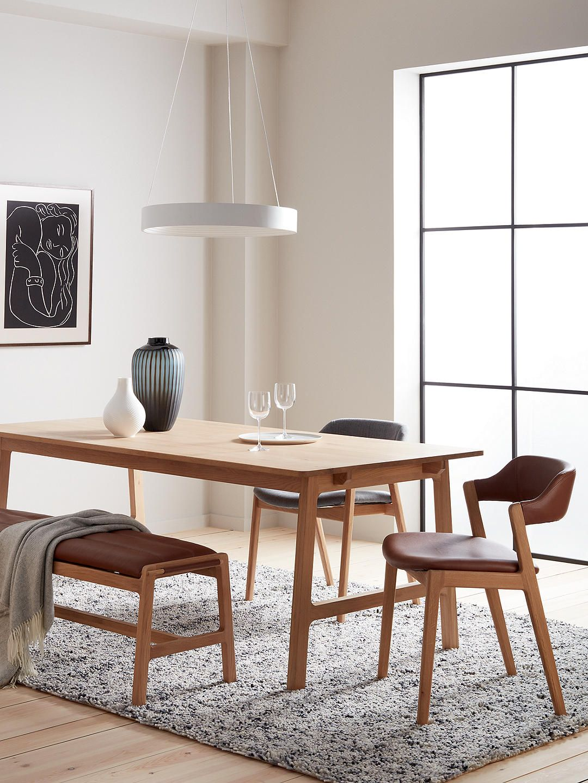 John Lewis & Partners Santino Dining Chair, Tan/Oak   Dining chair ...
