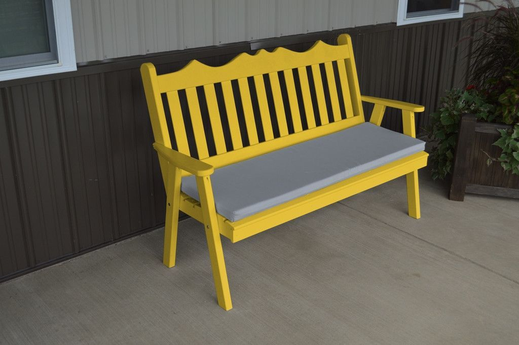 A L Furniture Co Yellow Pine 4 Royal English Garden Bench
